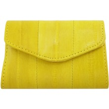 Genuine eel leather coin purse EEL-PC10 Yellow
