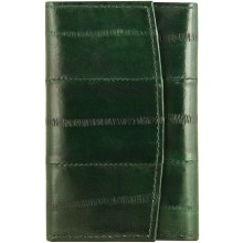 Genuine eel leather key holder EEL-W003 Forrest Green