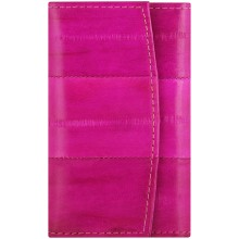 Genuine eel leather key holder EEL-W003 Hot Pink