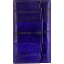 Genuine eel leather key holder EEL-W003 Midnight Blue