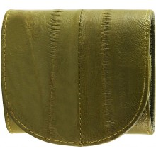 Genuine eel leather coin purse EEL-W006 Green