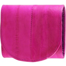 Genuine eel leather coin purse EEL-W006 Hot Pink