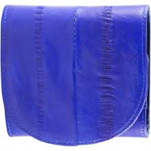 Genuine eel leather coin purse EEL-W006 Midnight Blue