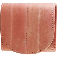 Genuine eel leather coin purse EEL-W006 Pink