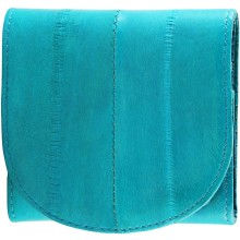 Genuine eel leather coin purse EEL-W006 Turquoise