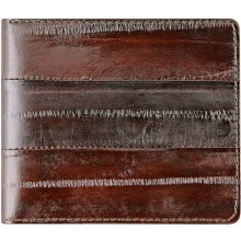 Genuine eel leather money clip EELMC01 Brown