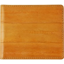 Genuine eel leather money clip EELMC01 Orange
