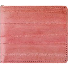 Genuine eel leather money clip EELMC01 Pink