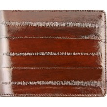Genuine eel leather wallet EELMS107-A Brown