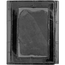 Genuine eel leather wallet EELMS103-A Black
