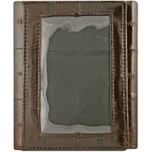 Genuine eel leather wallet EELMS103-A Brown