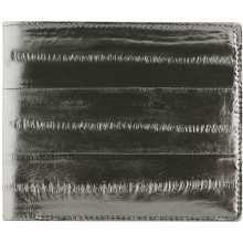 Genuine eel leather wallet EELMS107-A Black
