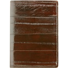 Genuine eel leather card holder EELMS111-A Brown