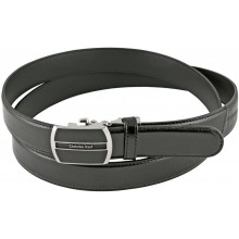 Genuine eel leather belt EELMS311 Black