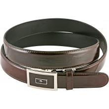 Genuine eel leather belt EELMS311 Brown
