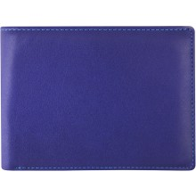 Genuine cow leather wallet FA221-D Blue / MC
