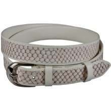 Genuine fish leather belt FBELT01-12 White
