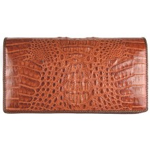 Genuine alligator leather bag FCM08 Brown