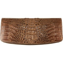 Genuine alligator leather clutch bag FCM186 Brown