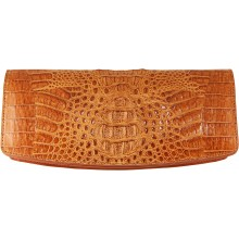 Genuine alligator leather clutch bag FCM186 Tan