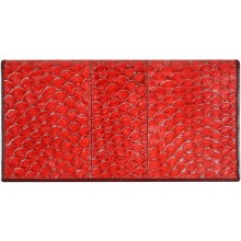 Genuine fish leather wallet FLW001 GL Red