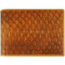 Genuine fish leather wallet FSW001 Amber