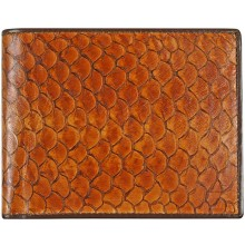Genuine fish leather wallet FSW003 Amber