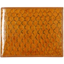 Genuine fish leather wallet FSW003 GL Amber