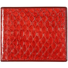 Genuine fish leather wallet FSW003 GL Red