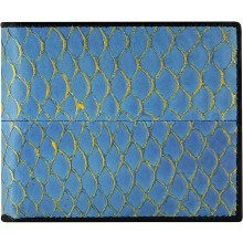 Genuine fish leather wallet FSW003 Sky Blue
