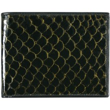 Genuine fish leather wallet FSW004 GL Black
