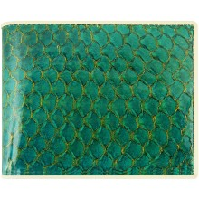 Genuine fish leather wallet FSW006 GL Green