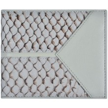 Genuine fish leather wallet FSW2163 White