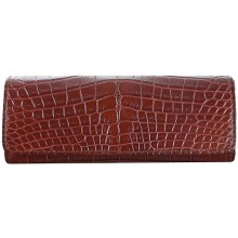 Genuine crocodile leather glasses / spectacles case GB01001 Maroon