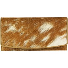 Genuine goat leather with hair on wallet GHW03 Camel