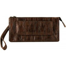 Genuine chicken / hen leather bag HBAG8822 Brown