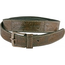 Genuine hen / chicken leather belt HBELT1-2 Brown