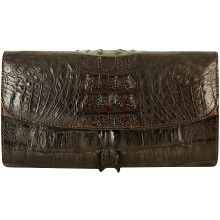 Genuine alligator leather bag HCM073TL Brown