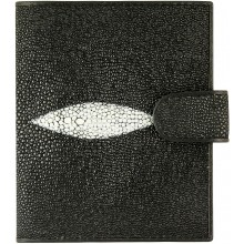 Genuine stingray leather wallet HK100 Black