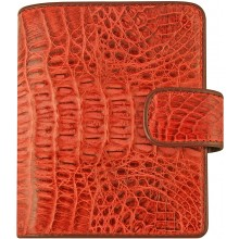 Genuine alligator leather wallet HKCM7-T23 Red
