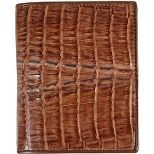 Genuine alligator leather wallet HKCM7T03 Brown