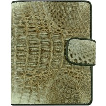 Genuine alligator leather wallet HKCM7-T23 Natural