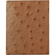 Genuine ostrich leather exclusive wallet HKOS99 Brown