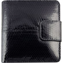 Genuine snake leather wallet HKSN51 Black