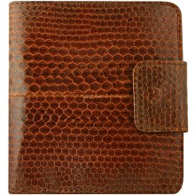 Genuine snake leather wallet HKSN51 Tan