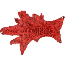 Genuine hen skin HSKIN01 Red