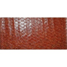 Genuine chicken leather panel HSKPAN02 Antique Reddish Brown