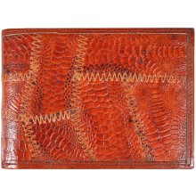 Genuine chicken / hen leather wallet HWAL012 Brown
