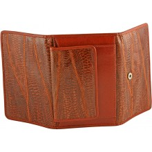 Genuine hen / chicken leather wallet HWAL500 Brown