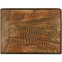 Genuine hen / chicken leather wallet HWAL502 D. Brown